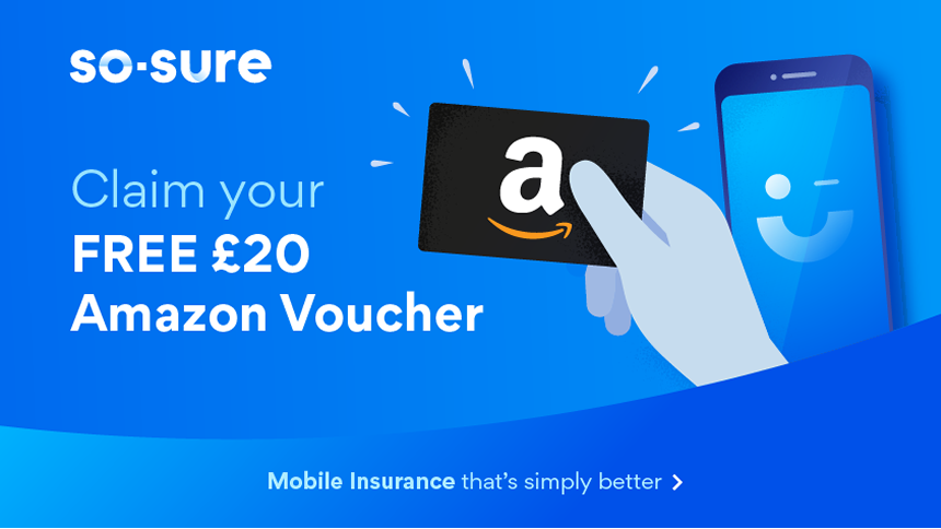 Mobile Phone Insurance - From £2.20 a month + £20 Amazon voucher