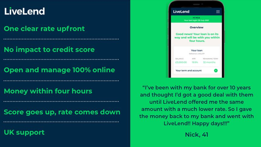Say hello to LiveLend - The fast, fair and flexible loan